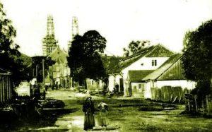 Kauno gatvė. Vaizdas iš rytų pusės. 1907 m.