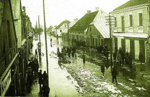 Kauno gatvės vaizdas iš vakarų pusės, apie 1937 m.