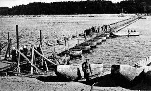 Pantoninis tiltas per Nemuną ties Jurbarku, 1915 m.