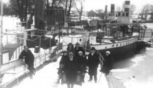 Jurbarko laivų uostas apie 1930-osius metus