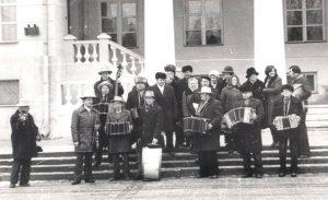 Eržvilko bandonininkai Vilniuje 1979 m. Foto A.Stravinsko. Šaltinis facebook.com