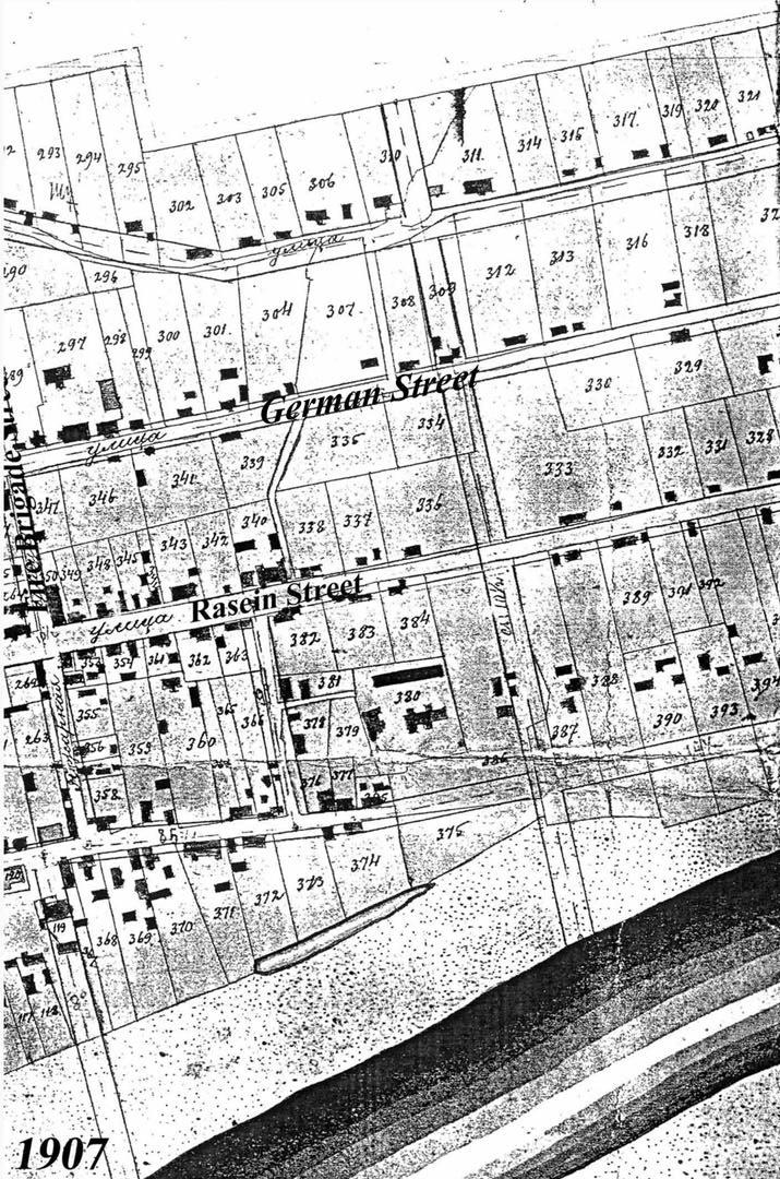 Jurbarko planas, 1907 m., dešinė