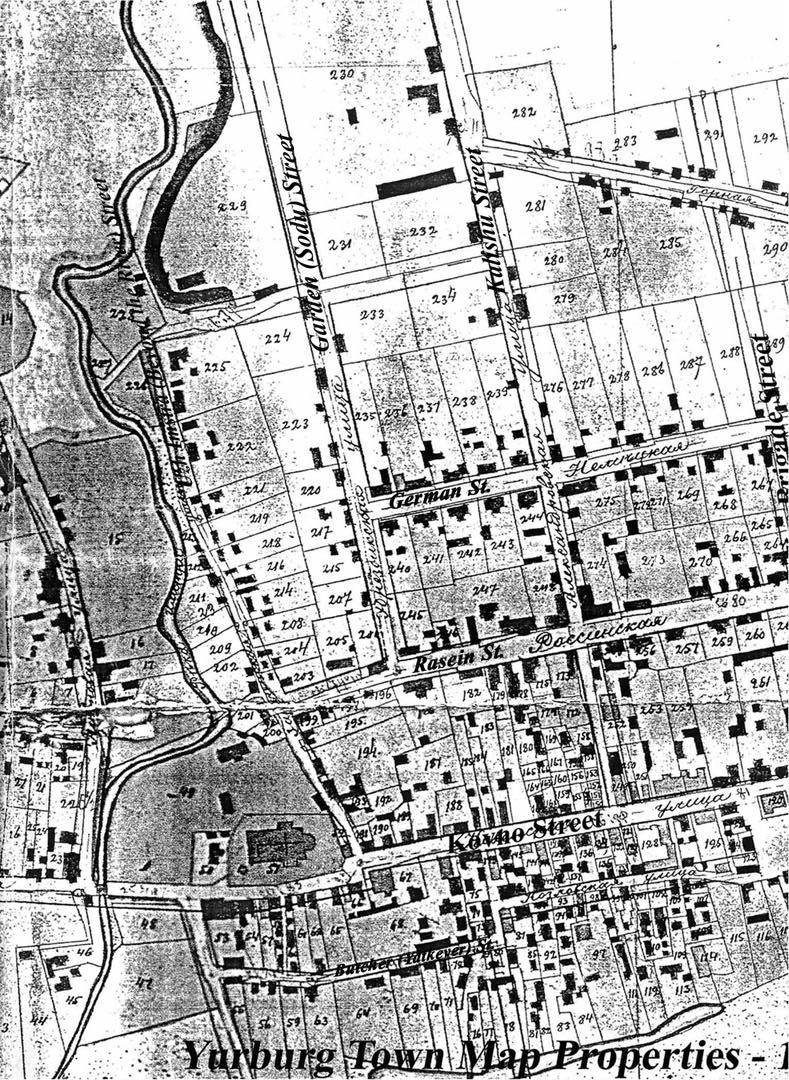 Jurbarko planas, 1907 m., kairė