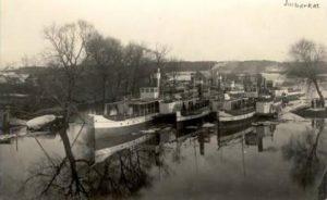 Uostas Jurbarke.1936m
