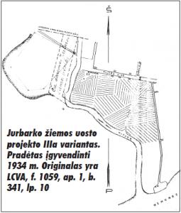 Jurbarko žiemos uosto projektas, 1934