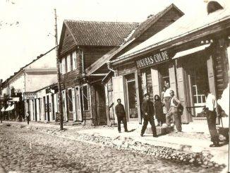 Kauno gatvė apie 1920 m Jurbarko Naujamiesčio kraštotyros muziejaus fondai.
