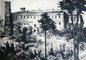 E. Andriolis. Panemunės pilis, XIX a.